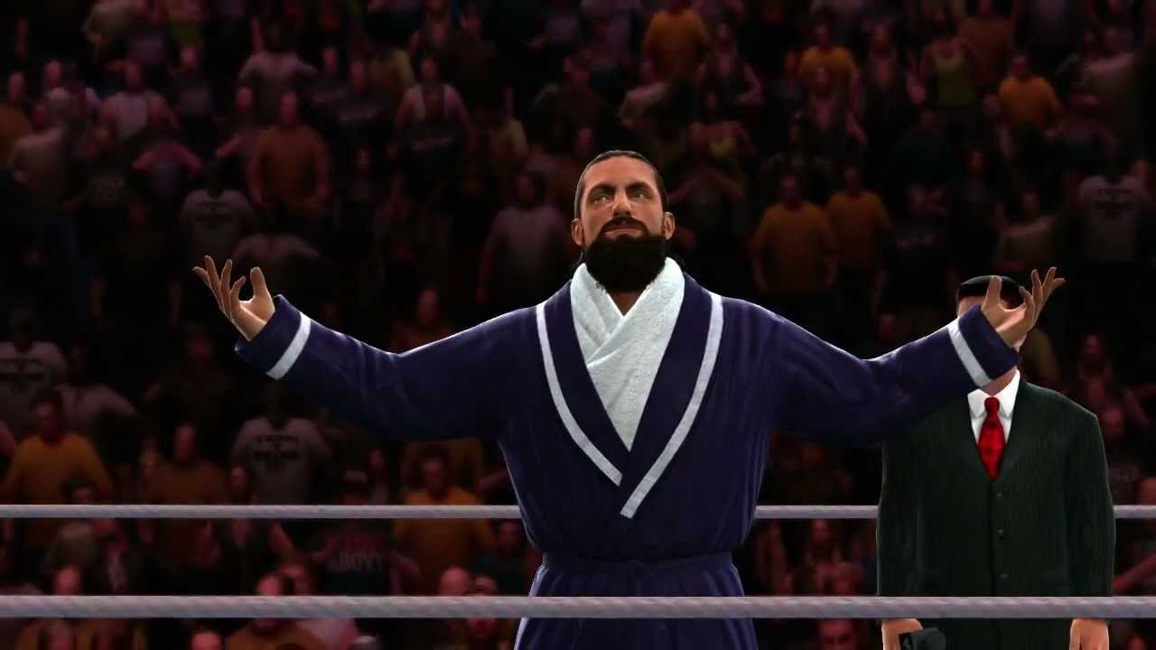 damien sandow makes his entrance in wwe 13 official