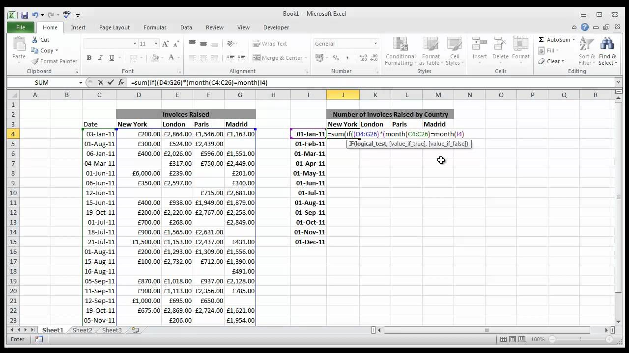 How to Set a Date Range in Excel