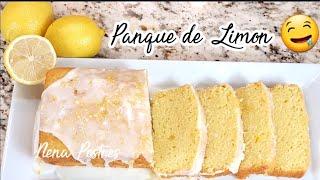 Panque de Limón 🍞🍋 Super Fácil y Rápido en horno y sin horno! SIN HUEVO!