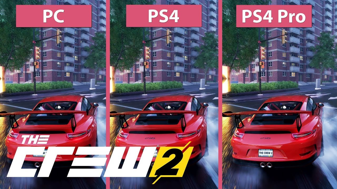 4k the crew 2 pc max vs ps4 vs ps4 pro graphics. Black Bedroom Furniture Sets. Home Design Ideas