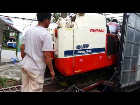 Video xuống máy gặt liên hoàn Yanmar CA 315 mới về Chuyên máy gặt cũ Nhật Bản Kubota Yanmar Iseki