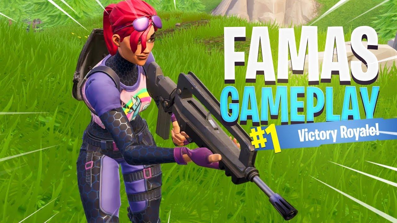FAMAS Burst Assault Rifle Gameplay in Fortnite - YouTube