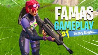 FAMAS Burst Assault Rifle Gameplay in Fortnite