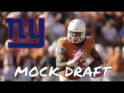 New York Giants 2017 NFL Mock Draft - 7 Round Mock Draft