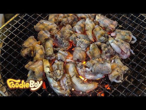 Grilled Hagfish / Korean Street Food / Jagalchi Market, Busan Korea