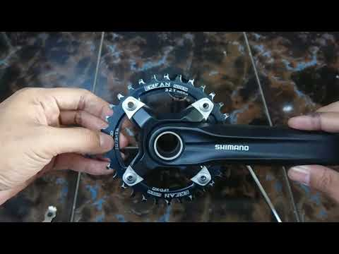 Memasang Single Chainring Crank Shimano Acera HT2 How To Install Single Chainring Crankset