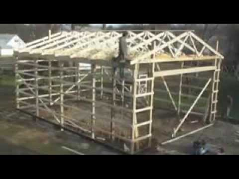 pole barn building process youtube