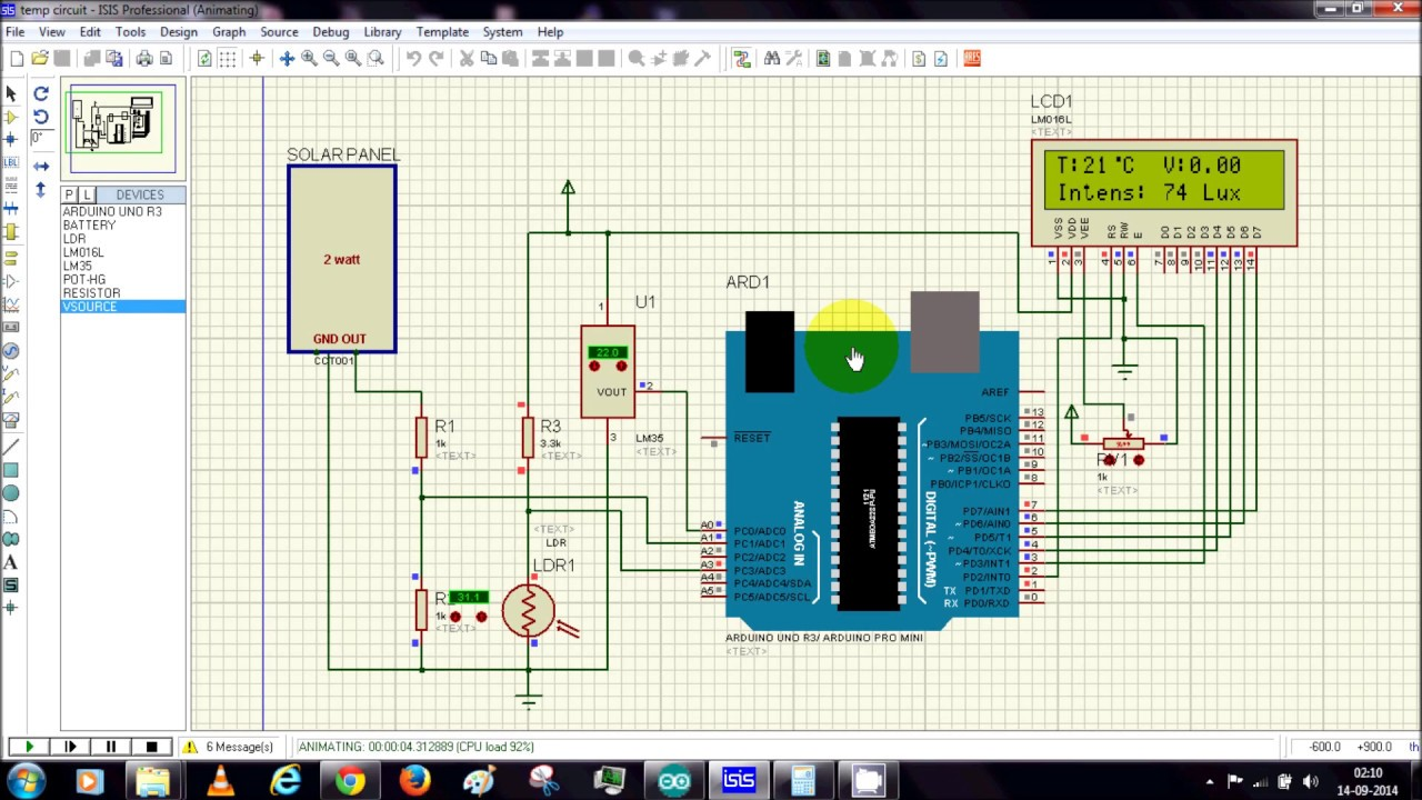Solar Energy Measurement Using Arduino and Proteus simulation By ...