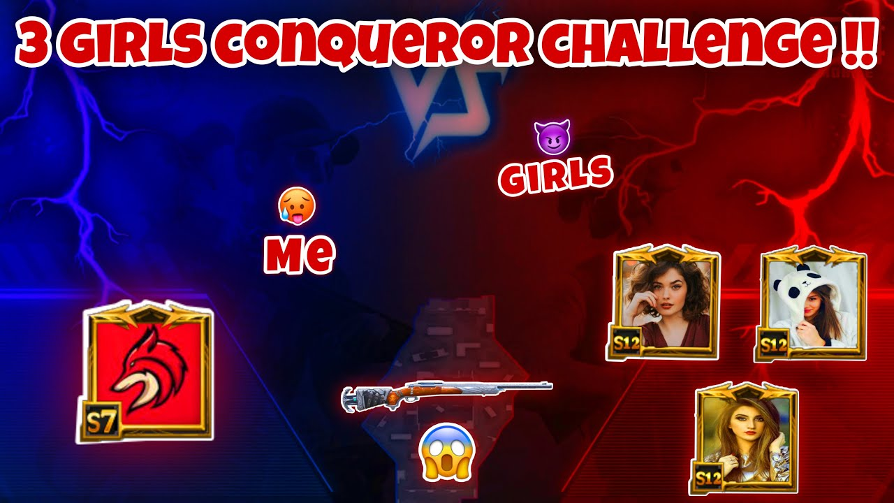 🔥 3 GIRLS CONQUEROR PRO PLAYERS CHALLENGED ME 🥵 SAMSUNG,A7,A8,J4,J5,J6,J7,J9,J2,J3,J1,XR,A4,XS,J3