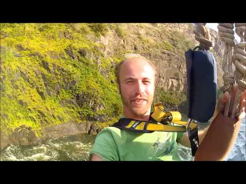 Victoria Falls Bridge Swing with GoPro