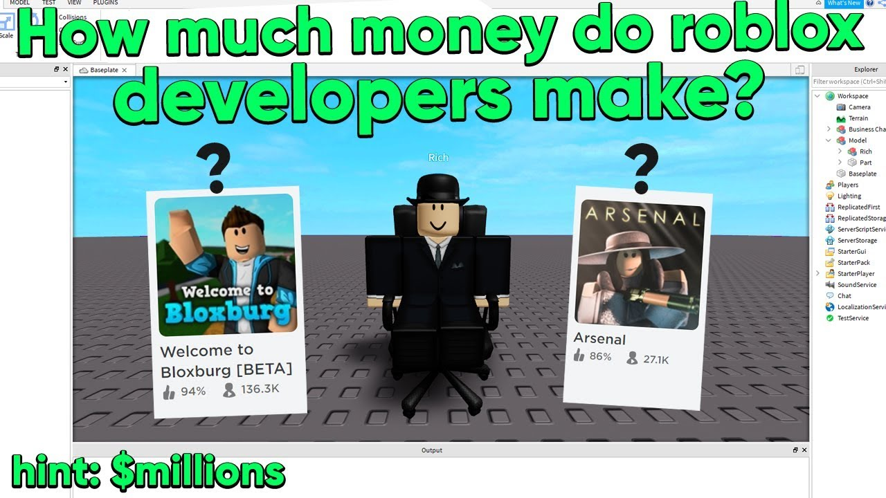 How Much Money Do Roblox Developers Really Make Millions Youtube