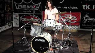 Greenbrier Percussion - Sonor BOP Kit Silver Galaxy Sparkle Drum Demo