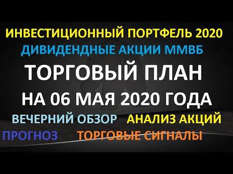 ТОРГОВЫЙ ПЛАН на 06 мая 2020 года- инвестиционный портфель 2020. Какие купить акции в мае 2020 Обзор