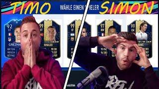 FIFA 19 FUT DRAFT - TIMO vs SIMON!!😱🔥 | Tisi Schubech