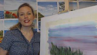 Онлайн-урок рисования гуашью для начинающих. Как нарисовать траву