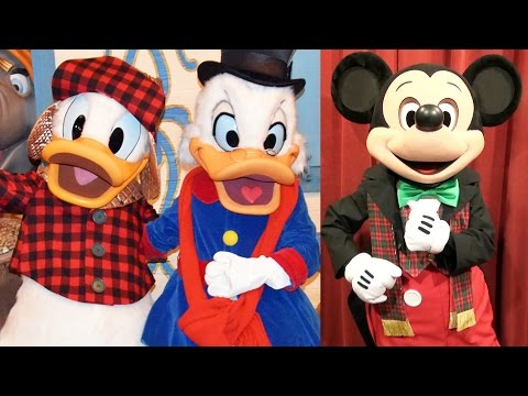 Mickey's Very Merry Christmas Party Character Montage 2016 w/ Talking Mickey, Daisy, Donald, Scrooge