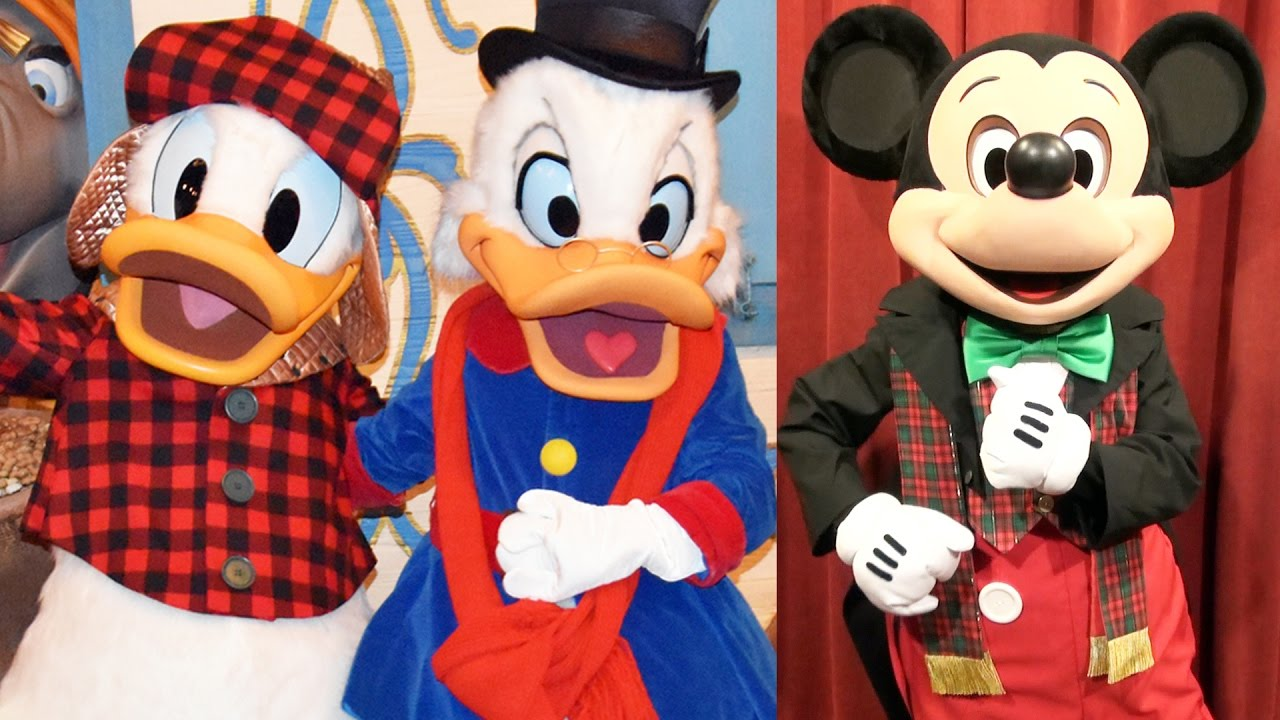 mickeys very merry christmas party character montage 2016 w talking mickey daisy donald scrooge youtube - Disney Christmas Characters