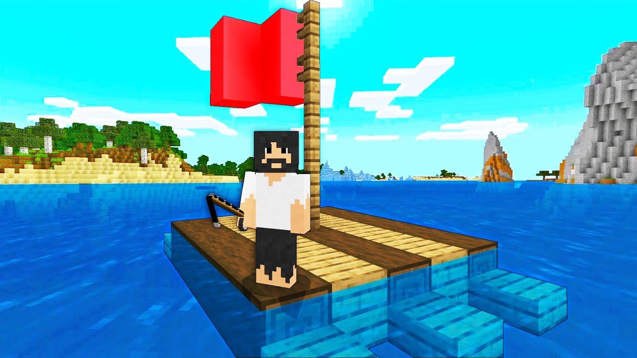 Raft Survival, but in Minecraft...