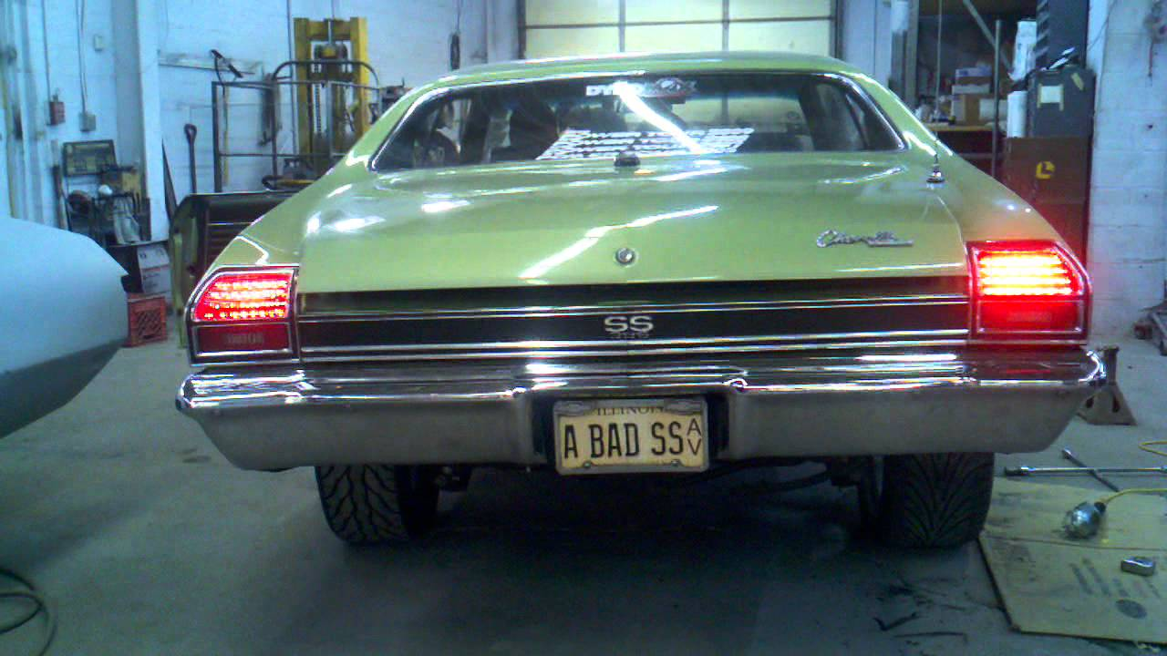 Digi Tails L E D Tail Lights On 69 Chevelle Ss Youtube