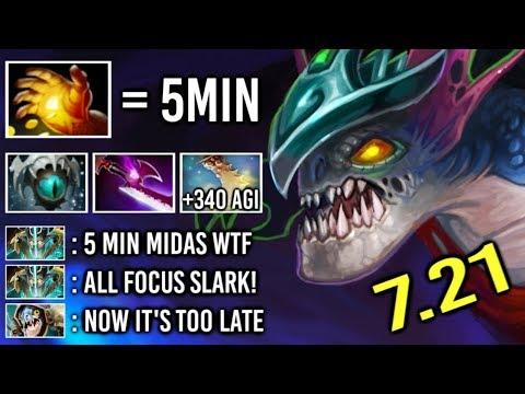 OMG 5 Min Hand of Midas Slark vs Counter Pick +340 Agi Cance