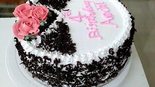 1 1/2 kg ബ്ലാക്ക് ഫോറസ്റ്റ് കേക്ക് || Black Forest Cake || Simple Birthday Cake Designs |  rcp-144