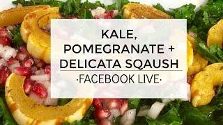 Kale + Pomegranates + Delicata Squash Salad Recipe