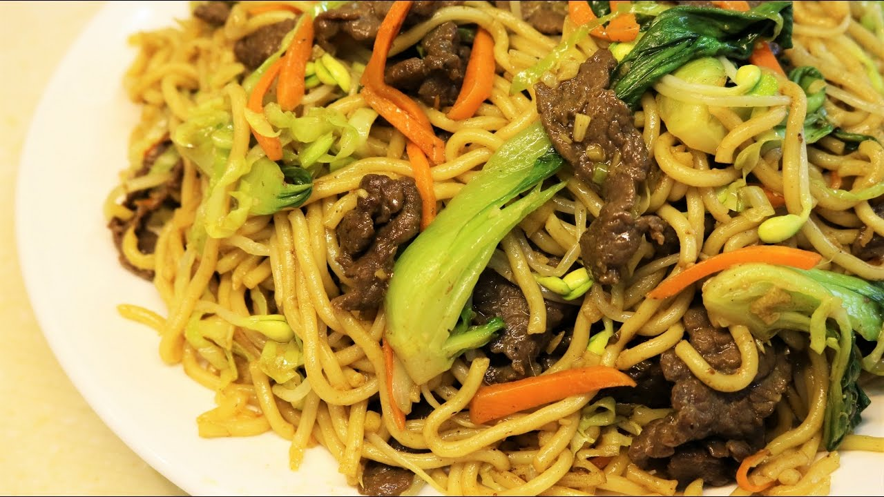 Better Than Takeout Beef Chow Mein Noodles Recipe Youtube