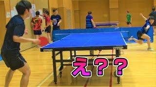 衝撃の擬似カットマン!?VSぐっちぃ【卓球知恵袋】Table Tennis