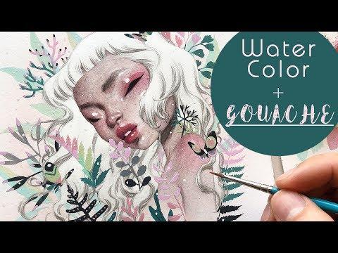 Last Snow // Watercolor + Gouache // Bao Pham