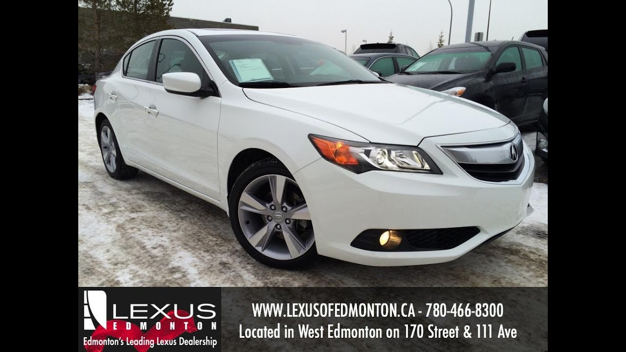 Used White Acura ILX Premium Pkg Review Fort McMurray Alberta - Acura ilx used