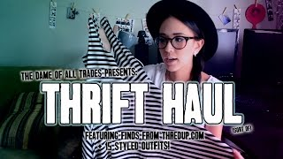 Huge Thrift Haul with 15 Styled Outfits for Back to School & Fall +Giveaway Thumbnail
