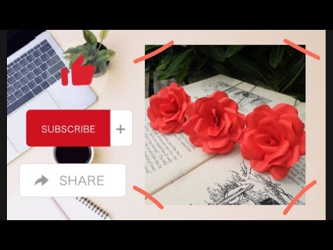 Paper rose flowers| Step by steps| Latest crafting| by Art and ideas