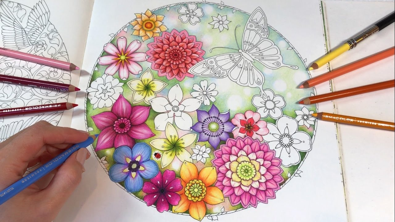 FULLY COMPLETED Johanna Basford Secret Garden - a flip through ... | 720x1280