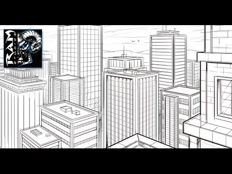 how to draw a city in 2 point perspective sketchbook pro