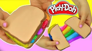 DIY Play Doh Grilled Rainbow Cheese Slime!