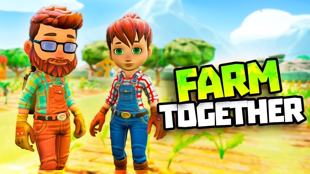 RAIDING SOME OTHER RANCHER'S FARMS! Farm Together Gameplay - Farmville Type  Game