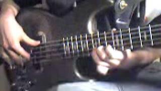 Lot trzmiela na gitarze basowej