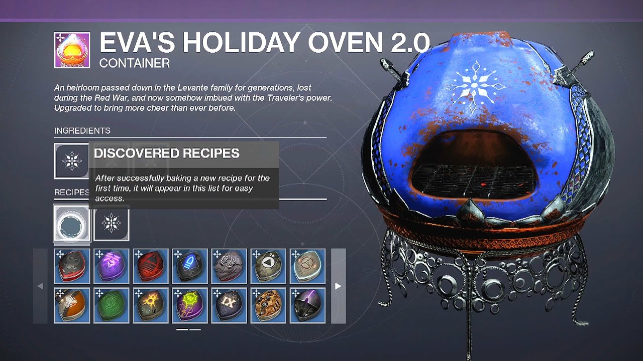 Eva S Holiday Oven New Recipes Link In Description Destiny 2 The Dawning Dawning Cookie Recipes Youtube