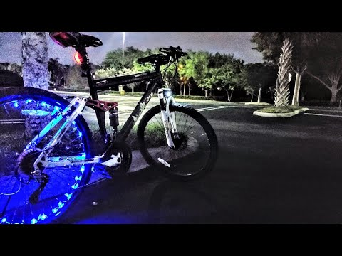My LED Bicycle Tire Spoke Wheel Lights | Coral Springs Vegan Vlogger | Juice84