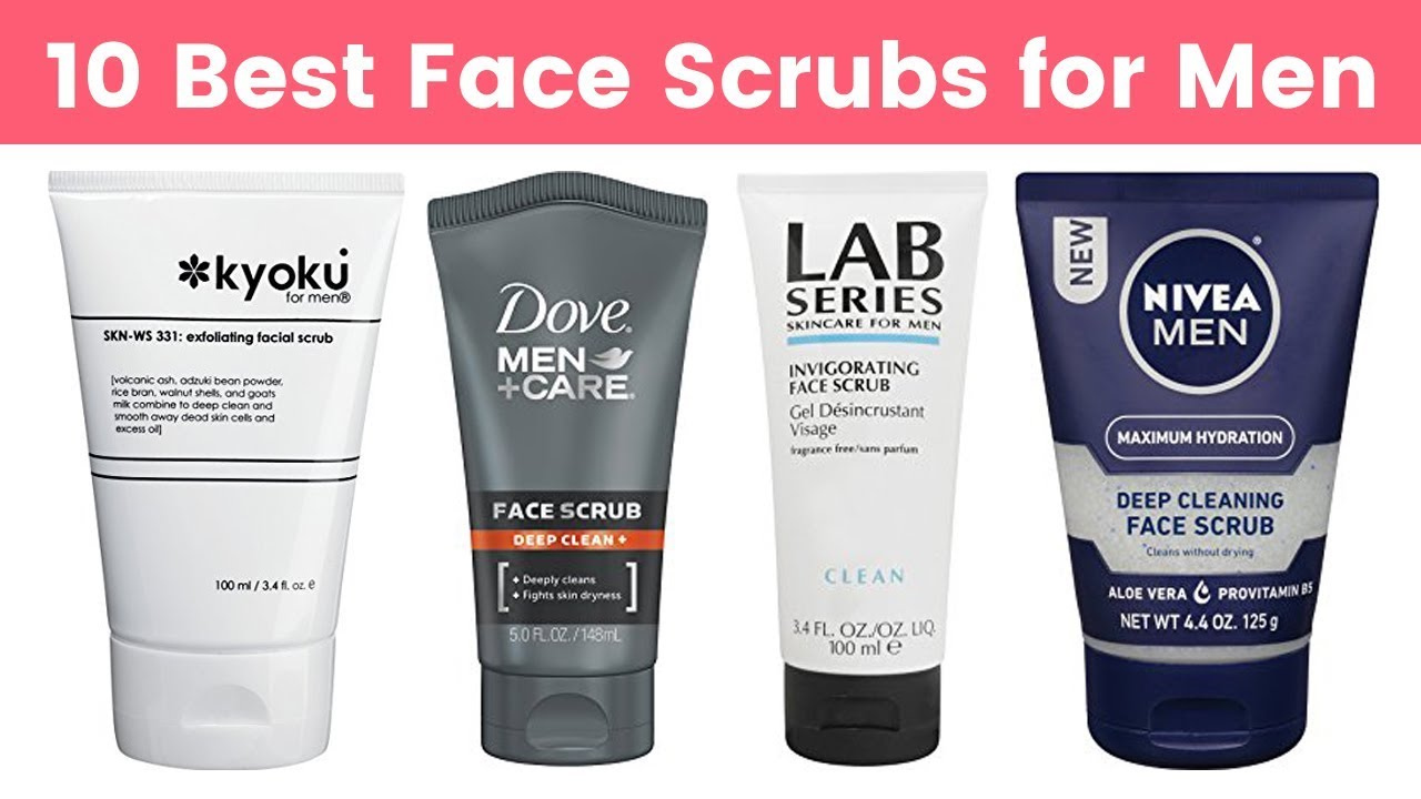 10 Best Face Scrubs For Men 2019 Face Exfoliating Cleansing Scrub For Men S All Skin Types Youtube