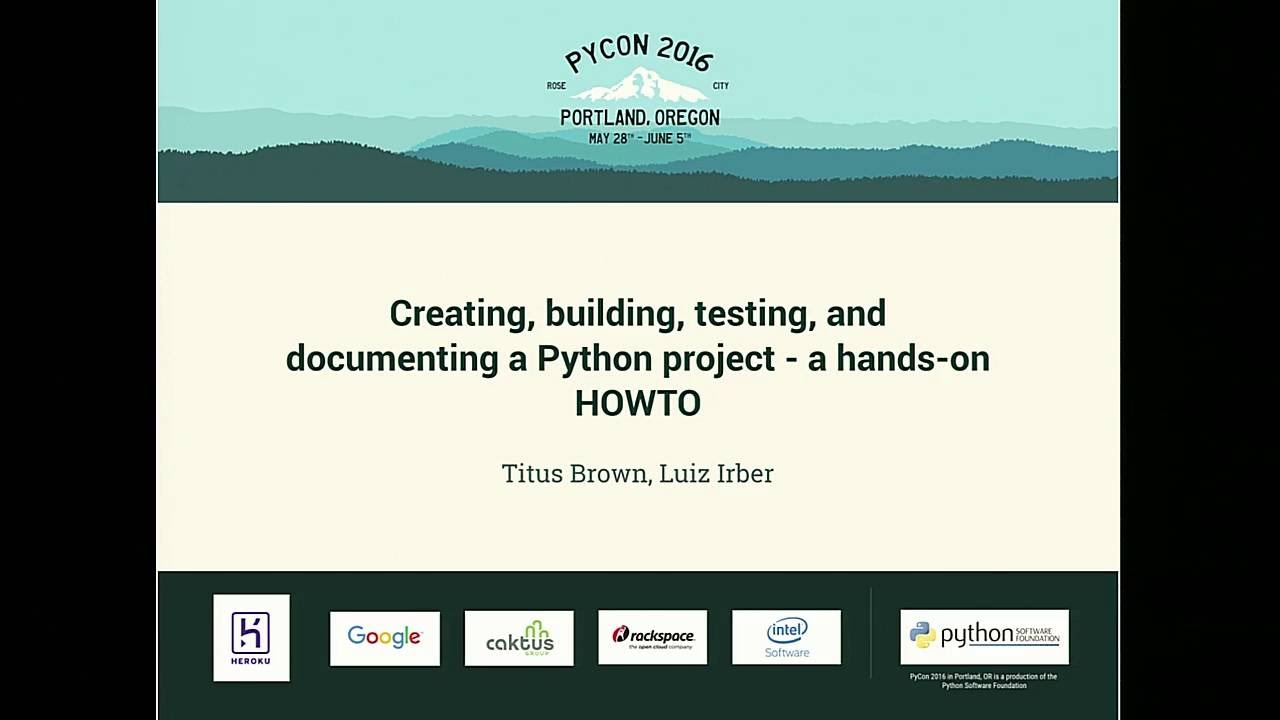 Image from Creating, building, testing, and documenting a Python project - a hands-on HOWTO