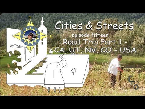 CA, UTAH, NV, CO USA: Road Trip part 1: Cities & Streets: episode #15