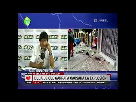 Presidente Morales duda que una garrafa causara explosión en Oruro