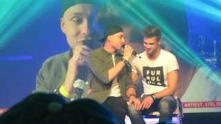 Rutger Vink (Furtjuh) zingt voor Thomas 'Hou me Vast' op DYTG 2016
