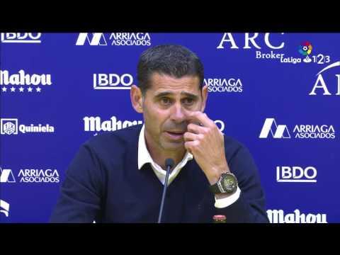 Rueda de prensa de Fernando Hierro tras el AD Alcorcón vs Real Oviedo (5-1)