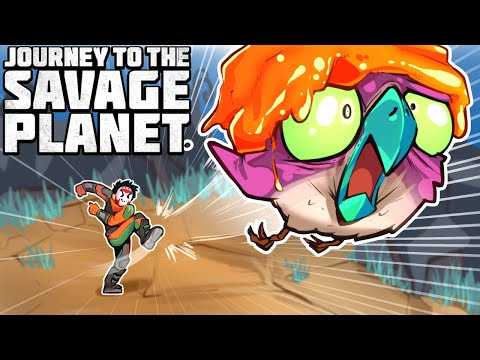 CRAZY BOSS FIGHTS ON A SAVAGE PLANET! (Funny Moments & Creatures) |