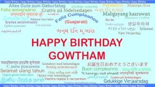 Gowtham   Languages Idiomas - Happy Birthday