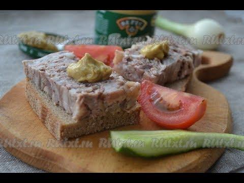 как сделать прессованное мясо из свиной головы в домашних условиях