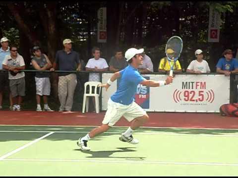 ATP Montpellier 2015 - Flavio Cipolla e Thomas Fabbiano training