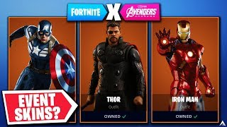 POSSIBLE AVENGERS ENDGAME EVENT CHALLENGES & REWARDS in Fortnite...